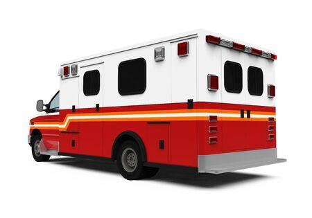 ambulance car: Ambulance Car Isolated Stock Photo