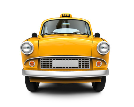 yellow car: Vintage Yellow Taxi