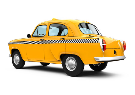 yellow taxi: Vintage Yellow Taxi