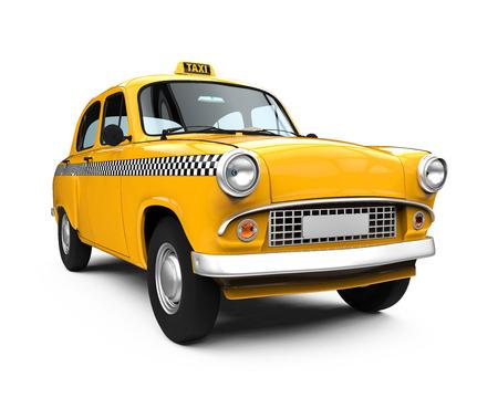 taxi: Taxi amarillo de la vendimia Foto de archivo
