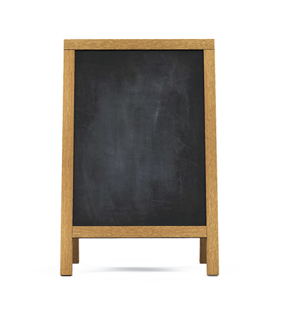 display: Sidewalk Chalkboard Isolated