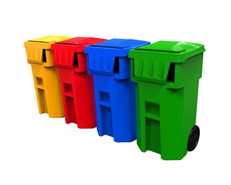 dispose: Multicoloured Garbage Trash Bins
