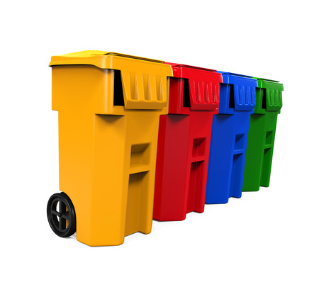 bins: Multicoloured Garbage Trash Bins