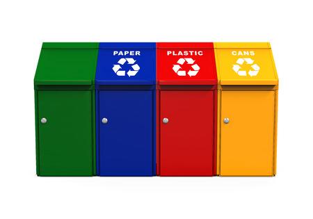 multicoloured: Multicoloured Garbage Trash Bins
