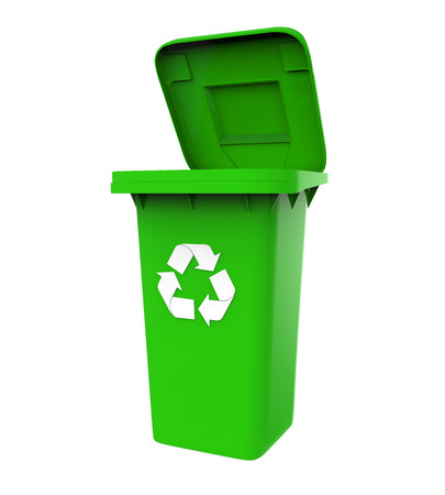 dispose: Garbage Trash Bin with Recycle Symbol