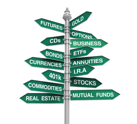 annuities: Types of Investments Direction Sign
