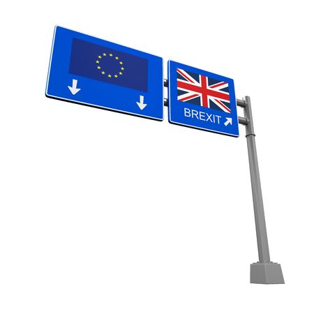 highway sign: Brexit Highway Sign Stock Photo