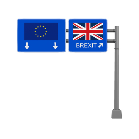 Brexit Highway Sign Stock Photo