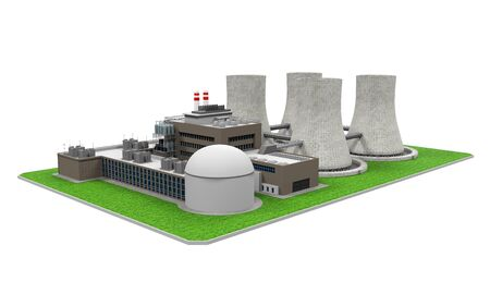 power plant: Nuclear Power Plant Stock Photo