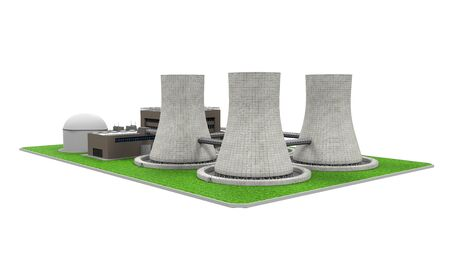 nuclear plant: Nuclear Power Plant Stock Photo