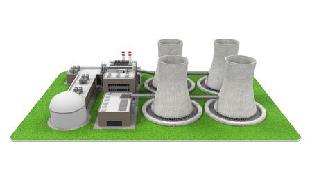 steam turbine: Nuclear Power Plant Stock Photo