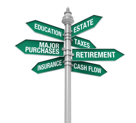 estate planning: Direction Sign of Personal Financial Planning