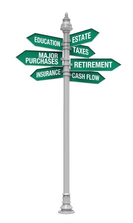retirement savings: Direction Sign of Personal Financial Planning