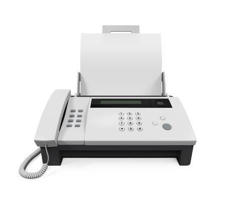 Faxgerät mit Papier Standard-Bild
