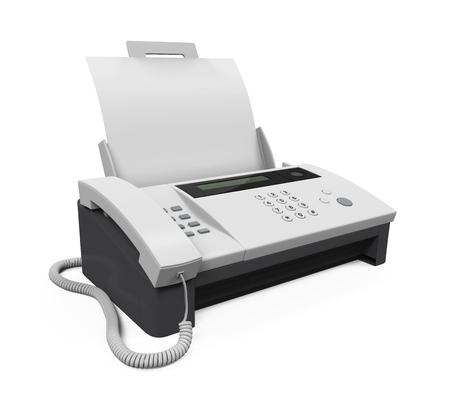 Fax Machine with Paper Archivio Fotografico