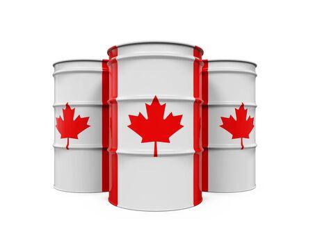 barel: Canadian Flag Oil Barrel Stock Photo