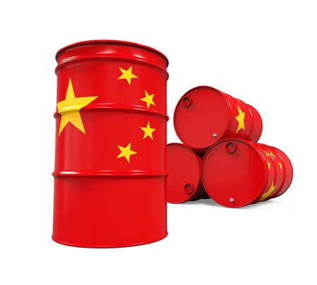 barell: China Flag Oil Barrel