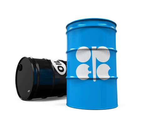 barell: OPEC Flag Oil Barrel