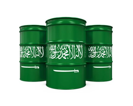 arabia: Saudi Arabia Flag Oil Barrel