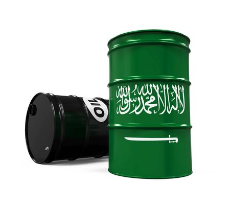 barell: Saudi Arabia Flag Oil Barrel