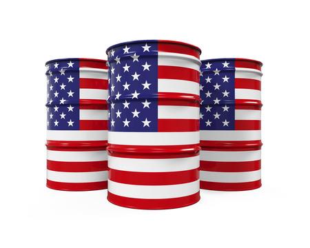 barell: USA Flag Oil Barrel
