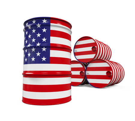 barel: USA Flag Oil Barrel