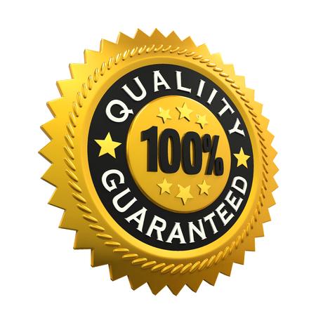 hundred: Quality Guaranteed Label Stock Photo