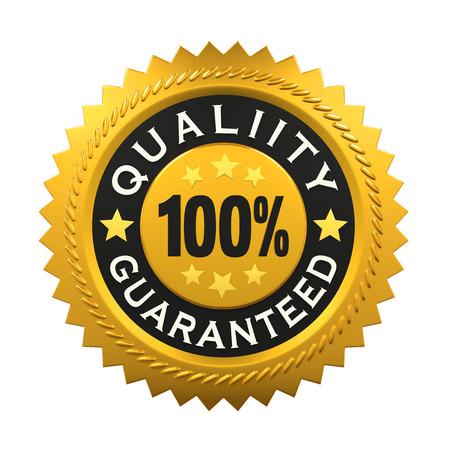 Quality Guaranteed Label Stock Photo