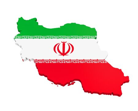 iran: Map of Iran Stock Photo