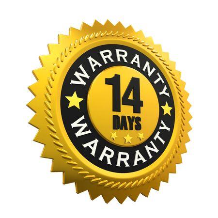 days: 14 Days Warranty Sign