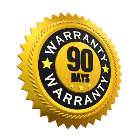 90: 90 Days Warranty Sign