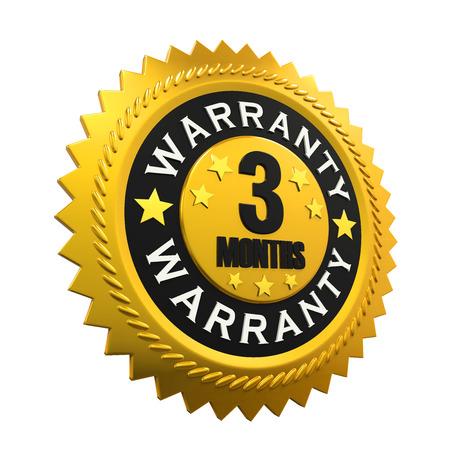 months: 3 Months Warranty Sign