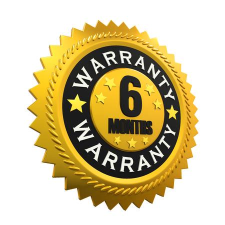 months: 6 Months Warranty Sign