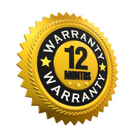 months: 12 Months Warranty Sign