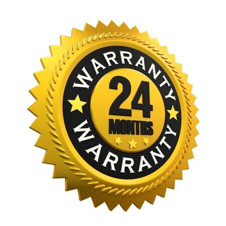 24: 24 Months Warranty Sign