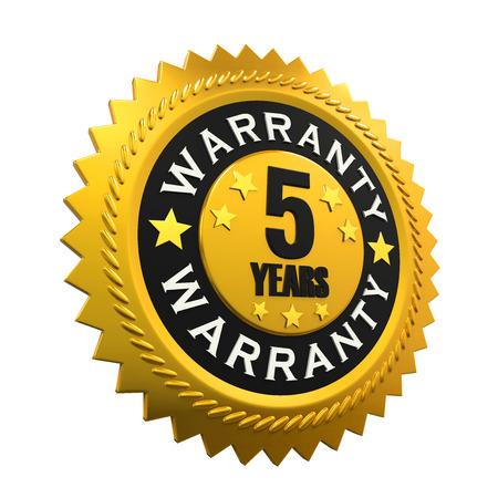 warranty: 5 Years Warranty Sign