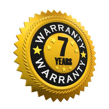 warranty: 7 Years Warranty Sign
