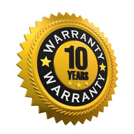 10 years: 10 Years Warranty Sign