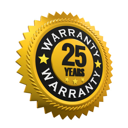 25: 25 Years Warranty Sign