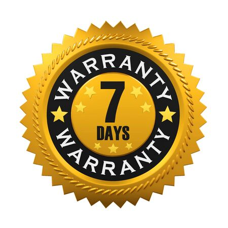 top seven: 7 Days Warranty Sign