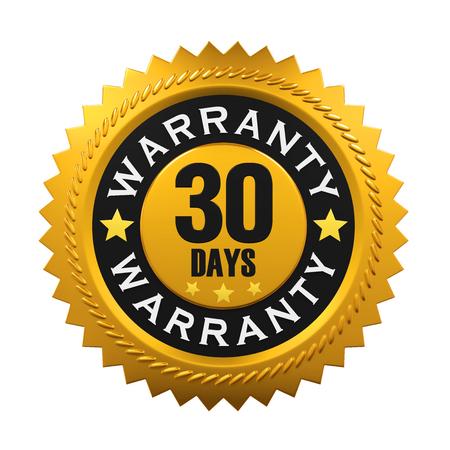 days: 30 Days Warranty Sign