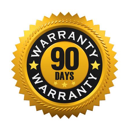 days: 90 Days Warranty Sign