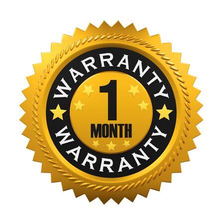 golden star: 1 Month Warranty Sign