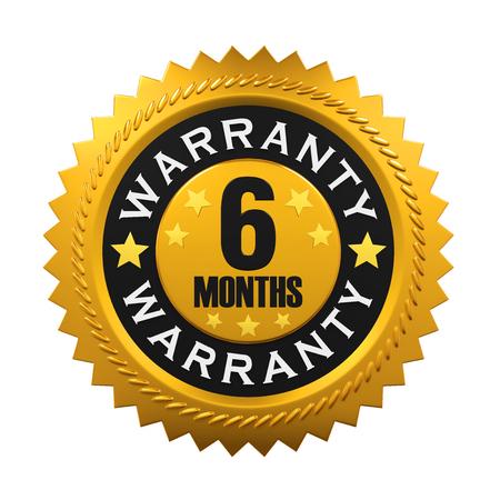 six months: 6 Months Warranty Sign
