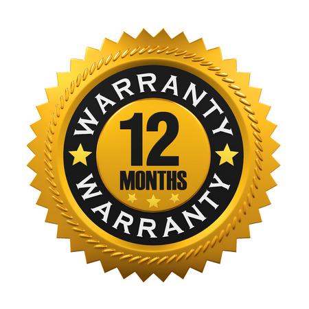12 Monate Garantie-Zeichen Standard-Bild