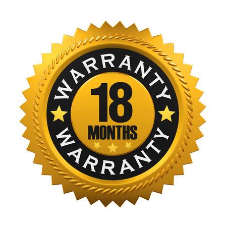 months: 18 Months Warranty Sign