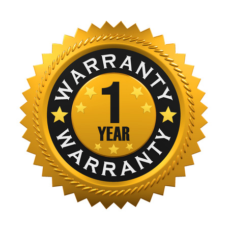 1: 1 Year Warranty Sign