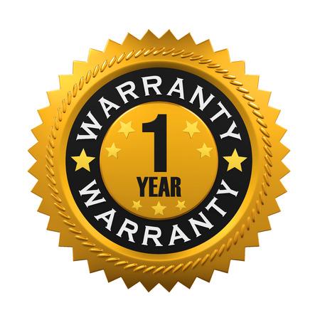 1 Year Warranty Sign 版權商用圖片 - 58977529