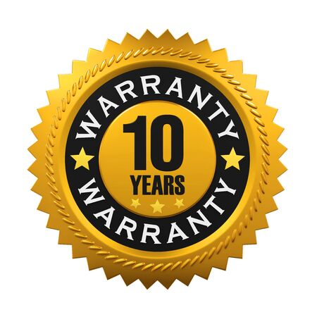 10: 10 Years Warranty Sign