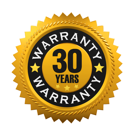 30 years: 30 Years Warranty Sign